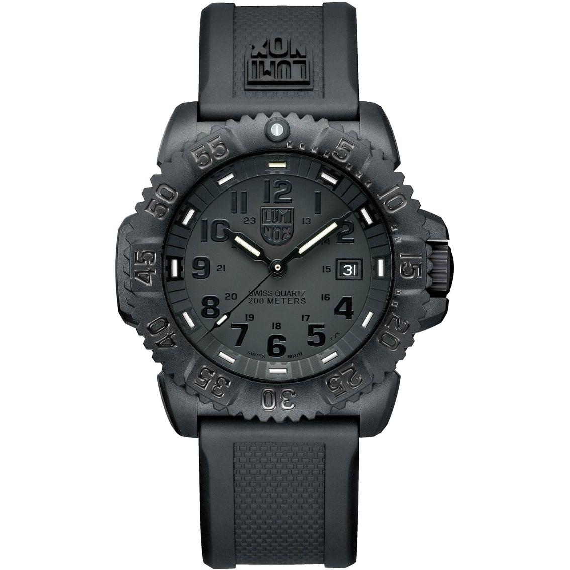 Luminox men 39 s evo navy seal blackout dive watch 3051bolum non metal band jewelry watches - Navy seal dive watch ...