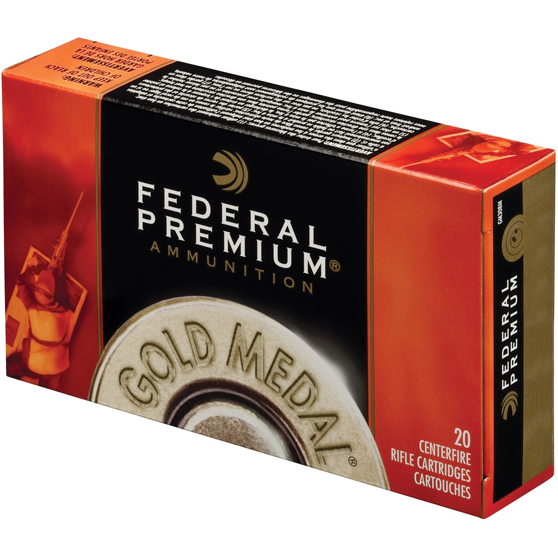 Federal Gold Medal  308 Win 175 Gr  Boat Tail Hollow Point