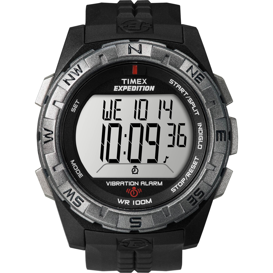 timex men s expedition digital elevated watch vibration alarm 1007