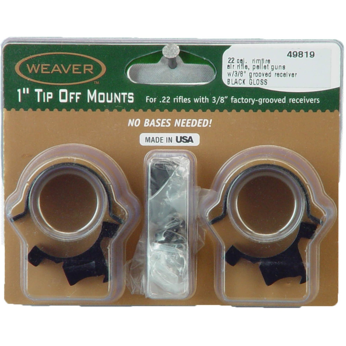 Weaver Sure Grip Tip Off 1 In Mounting Rings Scopes Binoculars Military Shop The Exchange