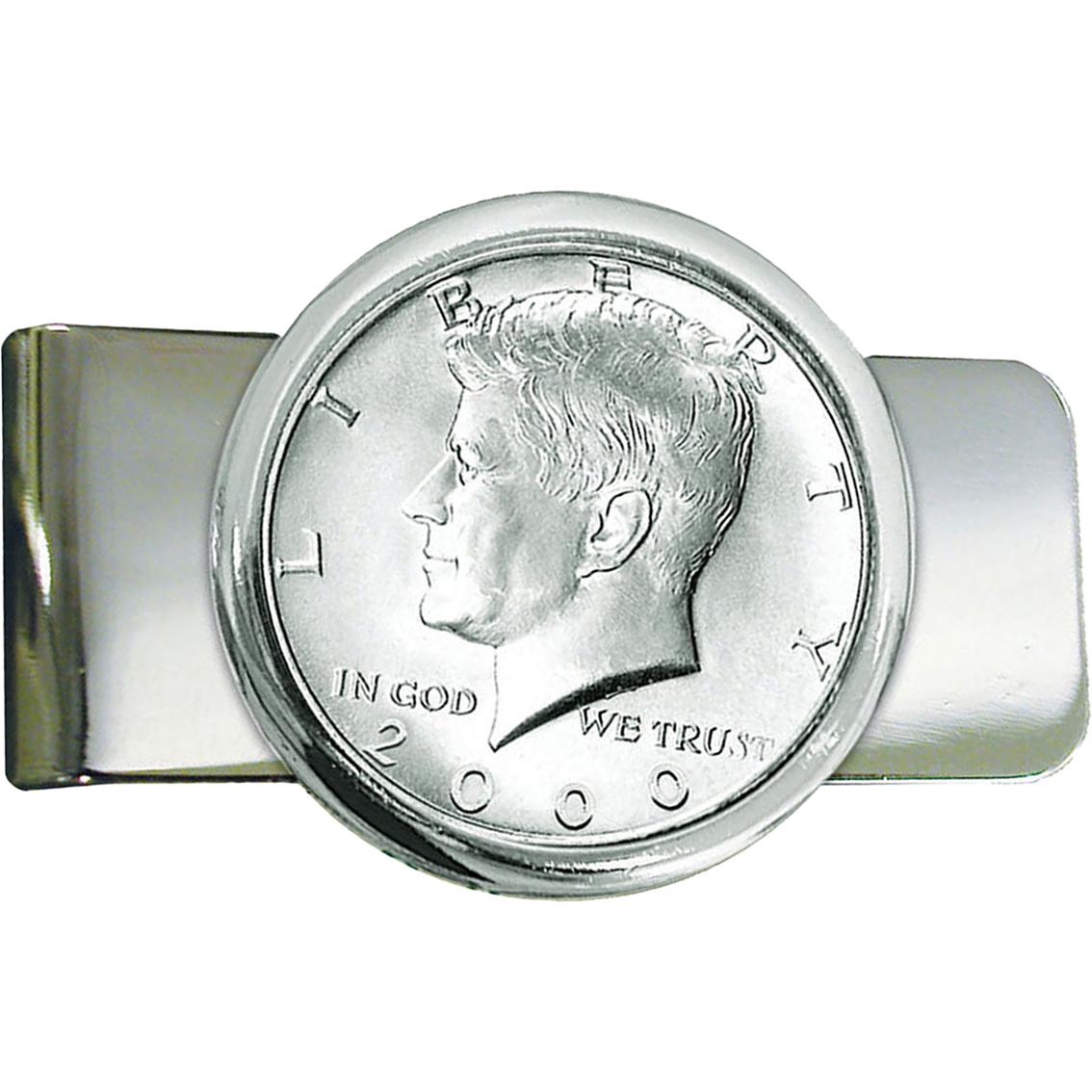 silvertone jfk half dollar money clip cuff links money clips