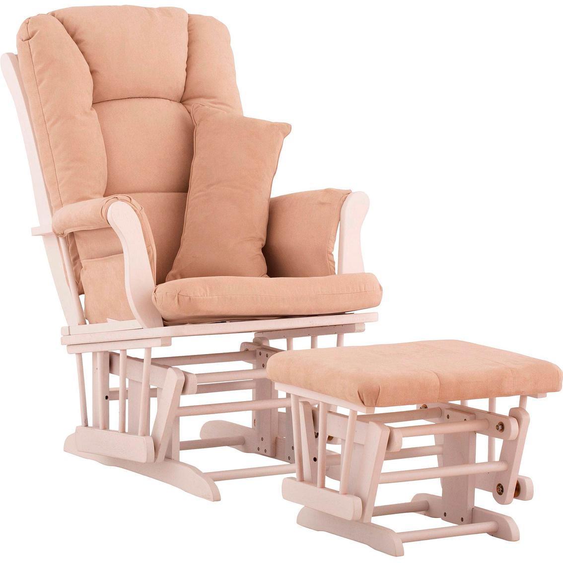 Storkcraft tuscany glider and ottoman rockers gliders for Stork craft tuscany glider rocking chair ottoman