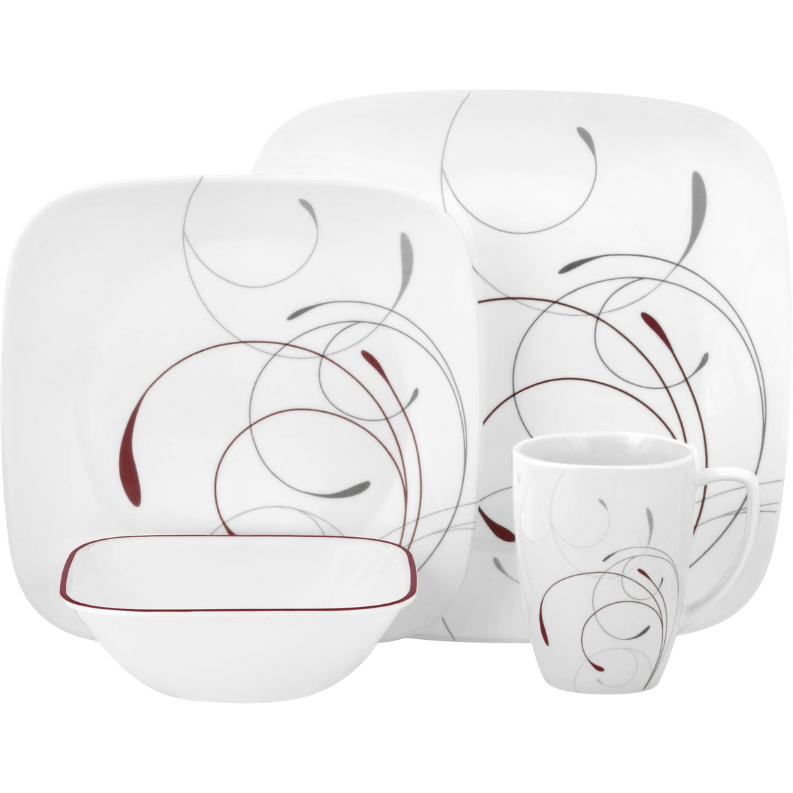 3535  sc 1 st  ShopMyExchange.com & Corelle Square Splendor 16 Pc. Dinnerware Set | Dinnerware Sets ...