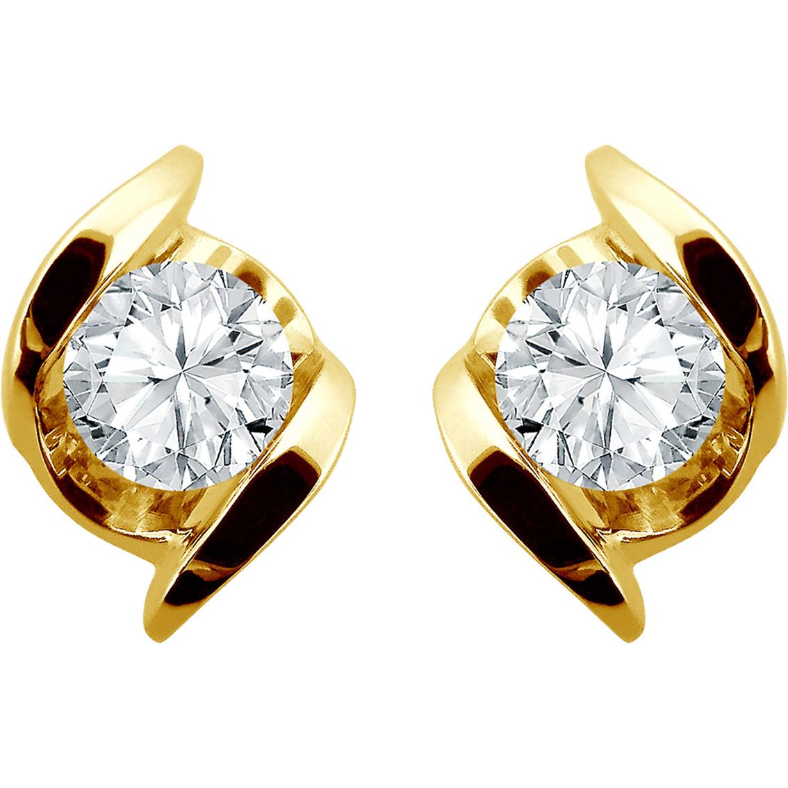 Sirena 14k Gold 1/3 Ctw Diamond Stud Earrings | Diamond ...