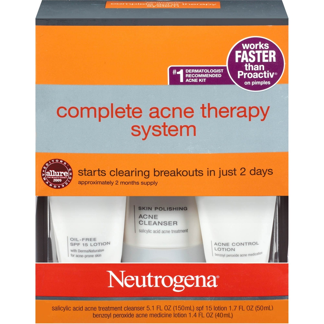 Neutrogena Acne Kit Complete Acne Therapy System Acne Treatments