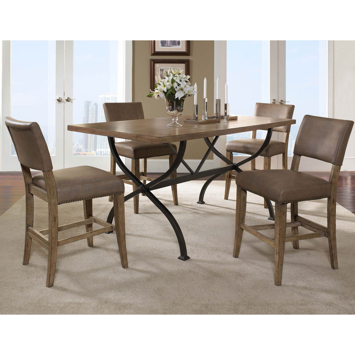 Hillsdale Charleston 5 Pc. Rectangle Counter Height Dining Set