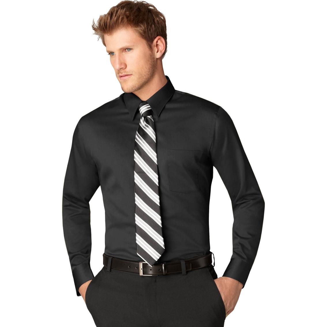 Arrow Fitted Sateen Dress Shirt Dress Shirts Apparel Shop The