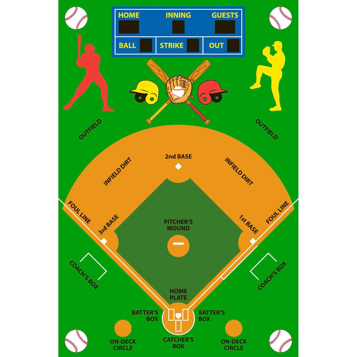 Fun Rugs Baseball Field Rug