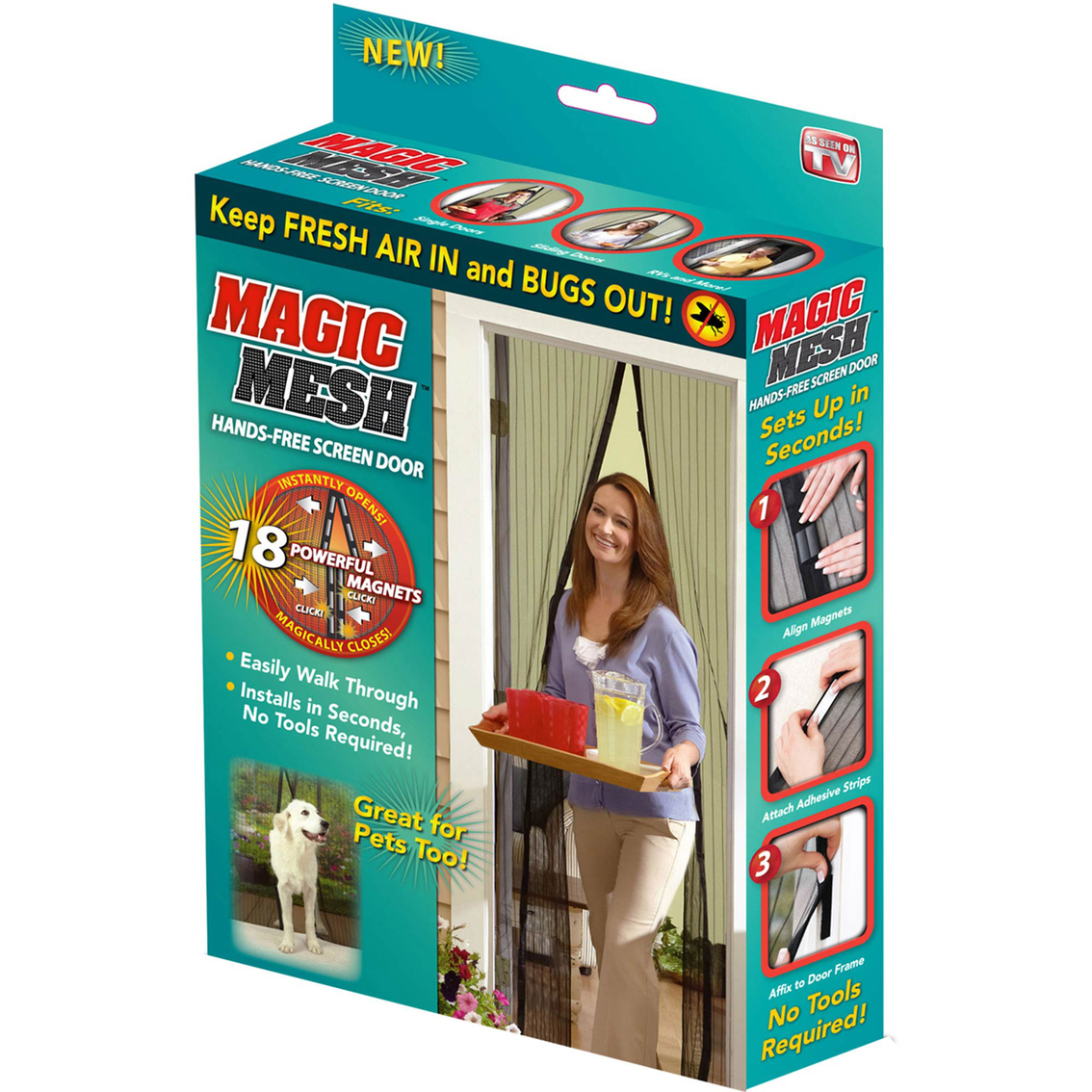 As Seen On Tv Magic Mesh Hands Free Screen Door Infomercial