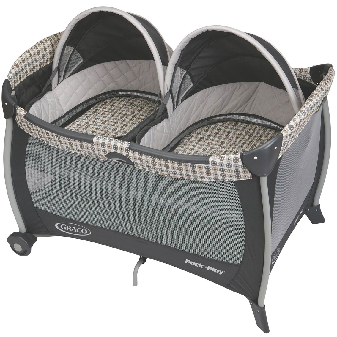 graco pack 39 n play playard with twins bassinet playards baby toys shop the exchange. Black Bedroom Furniture Sets. Home Design Ideas
