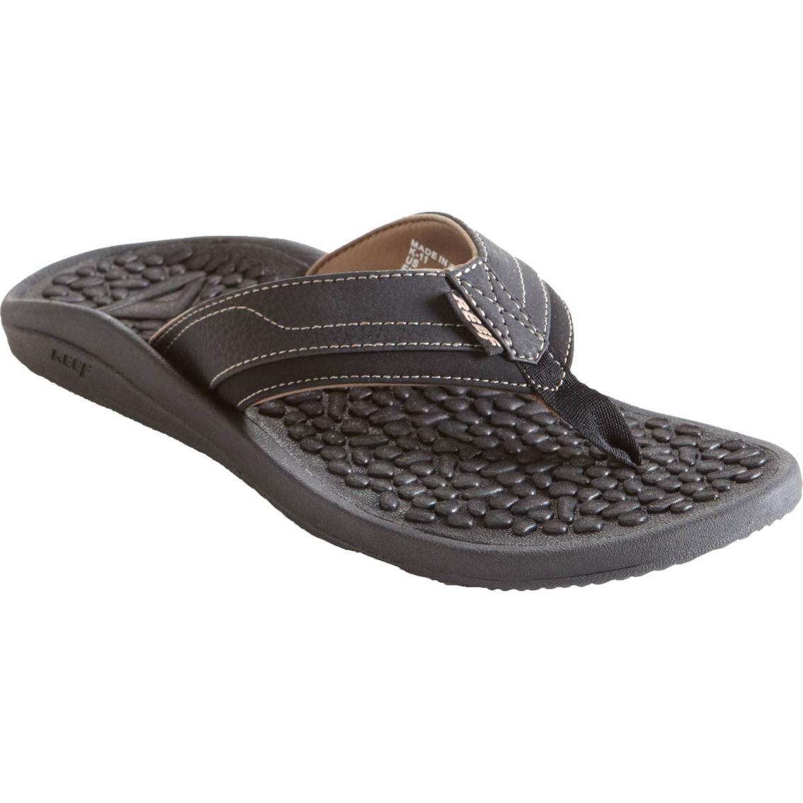 9f193eace846 Reef Men s Playa Negra Black Sandals