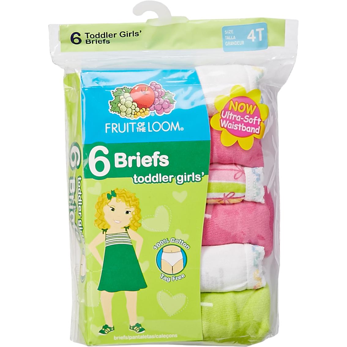 fruit of the loom toddler girls briefs 6 pk toddler. Black Bedroom Furniture Sets. Home Design Ideas