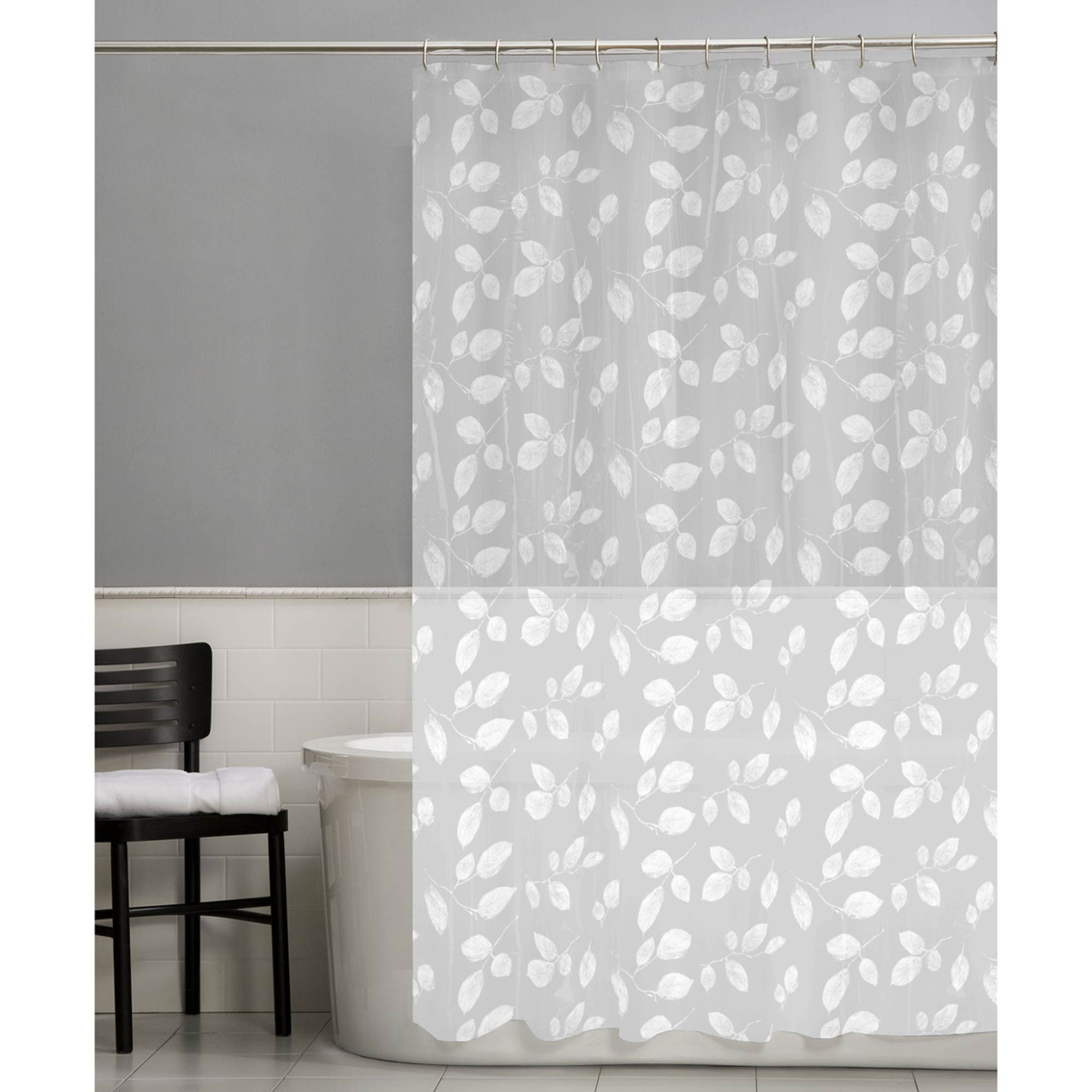 Maytex Just Leaves PEVA Shower Curtain