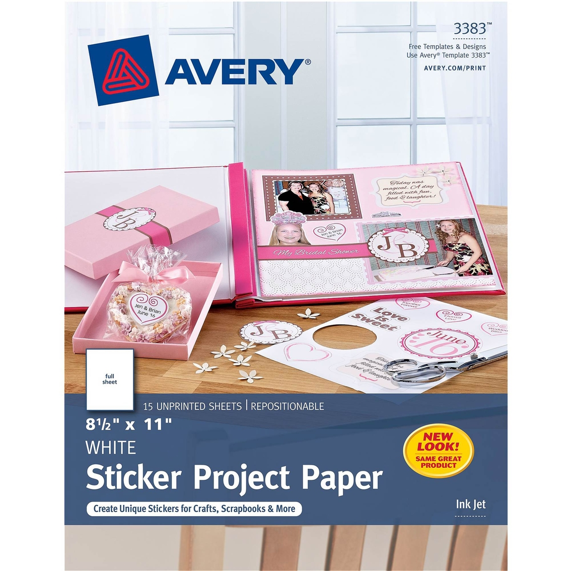 photograph about Avery Printable Magnet Sheets named Avery Sticker Undertaking Paper 8.5 X 11 Inside., White, 15 Pk