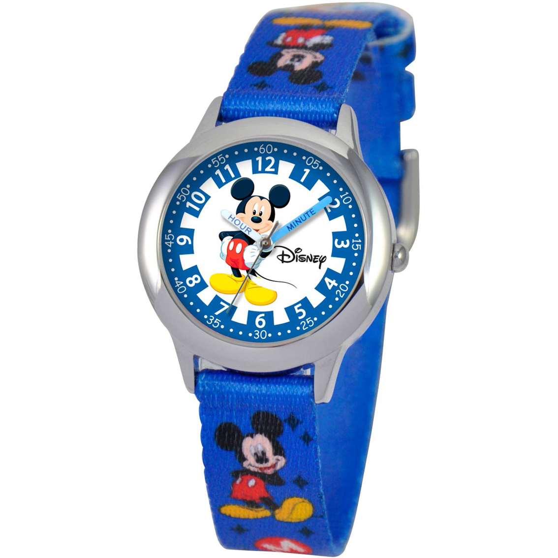 Disney Kids Mickey Mouse Time Teacher Blue And Silver ...