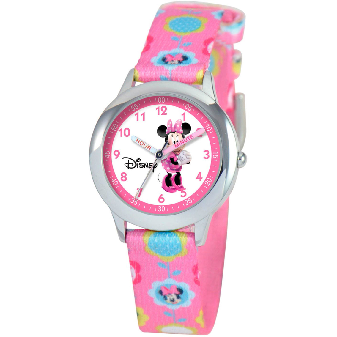 Disney Kids Minnie Mouse Time Teacher Pink Watch ...