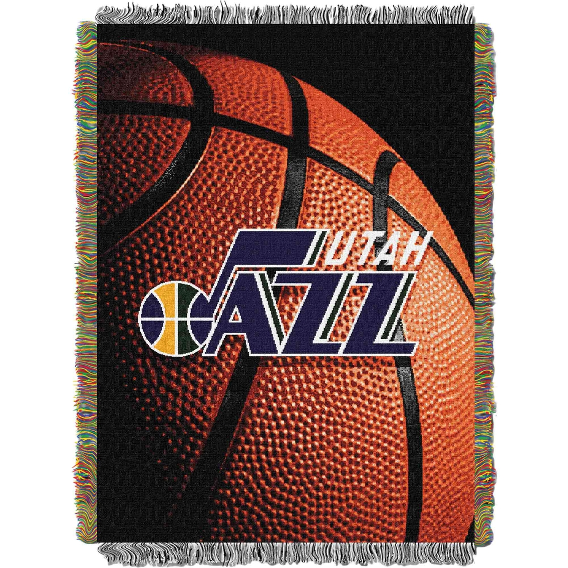 finest selection 0ea64 10d4f Northwest Nba Utah Jazz Photo Real Tapestry Throw | Blankets ...
