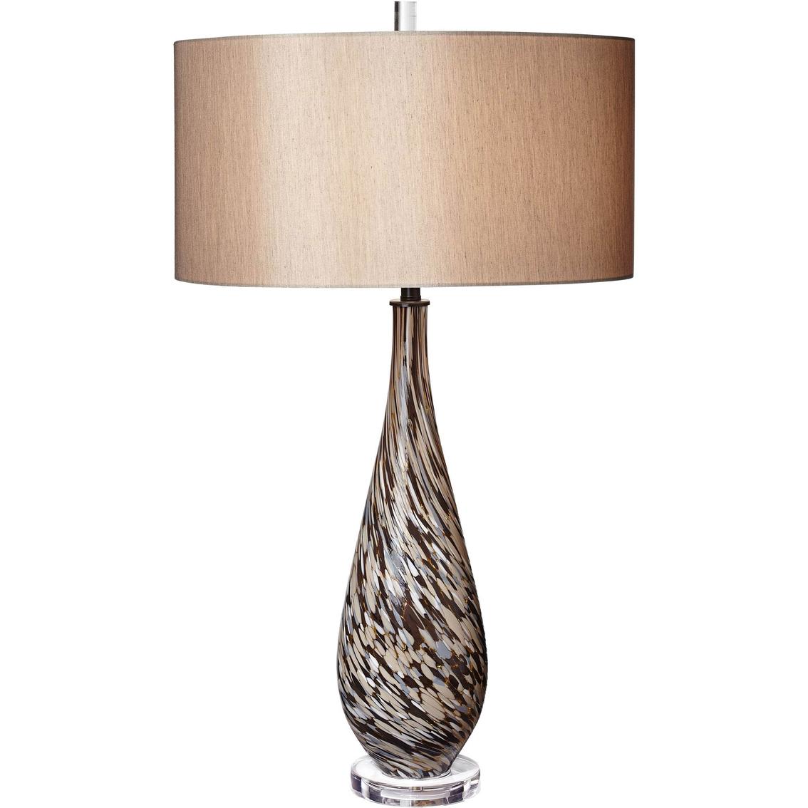 Pacific coast lighting mocha swirl art glass table lamp table 2141 aloadofball Images