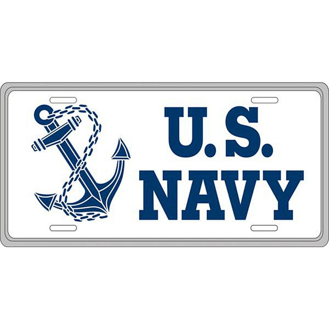 Mitchell Proffitt Us Navy Anchor License Plate | Logo Gear