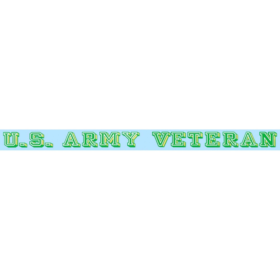 U.S Army With Star Logo Clear Window Strip Mitchell Proffitt