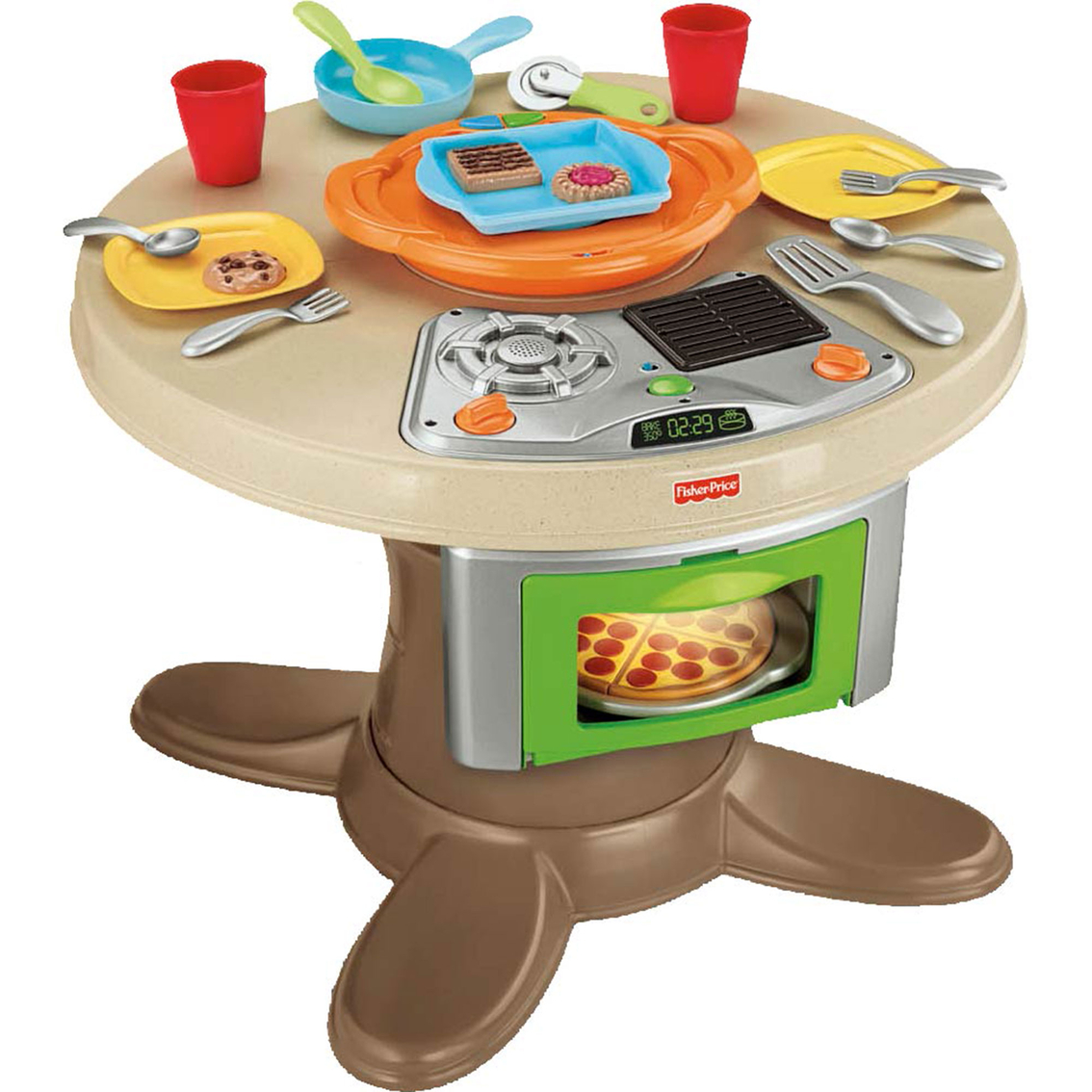 Fisher Price Play Kitchen: Fisher-price Servin' Surprises Kitchen And Table