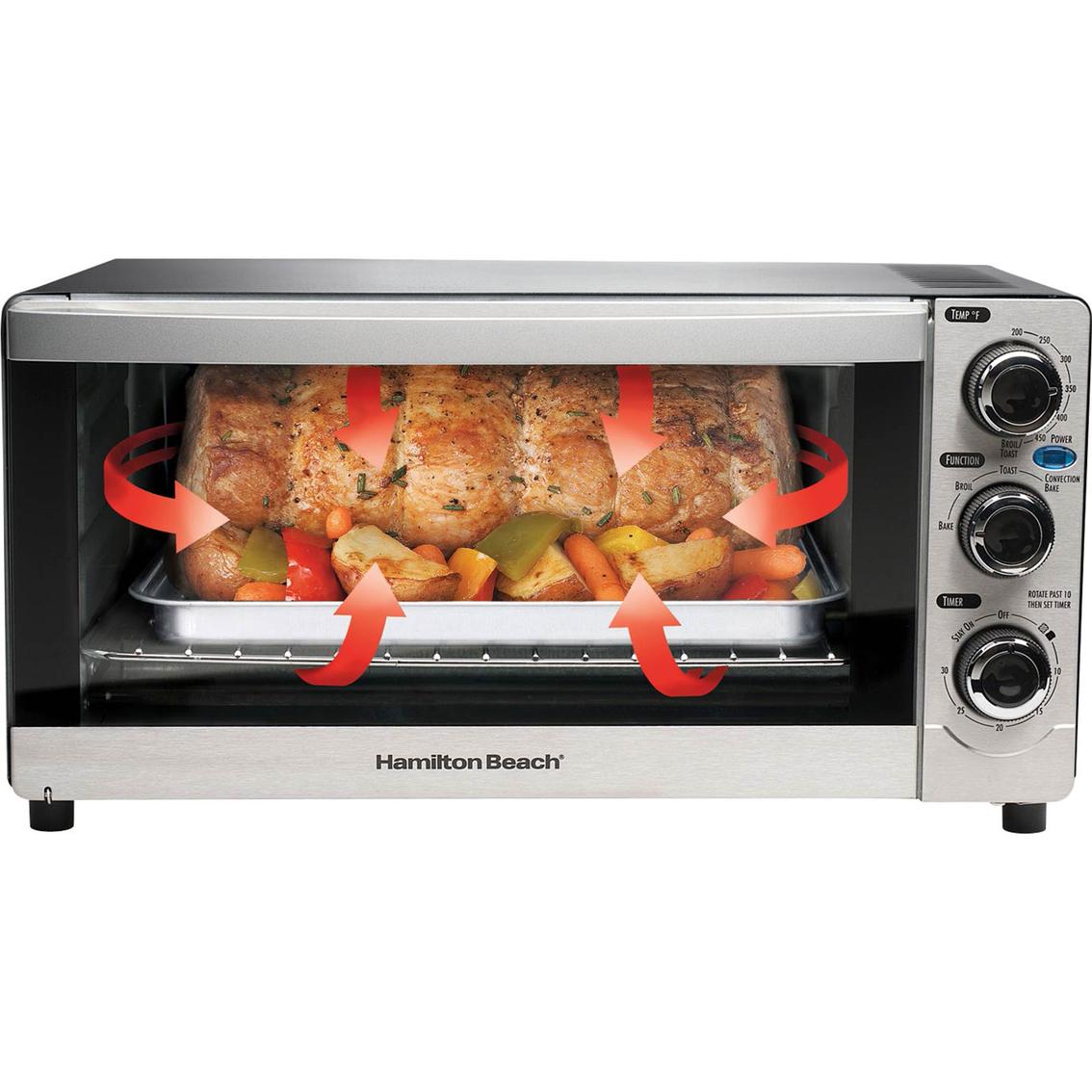 Hamilton beach cool touch 6 slice toaster oven toasters - Cool touch exterior convection toaster oven ...