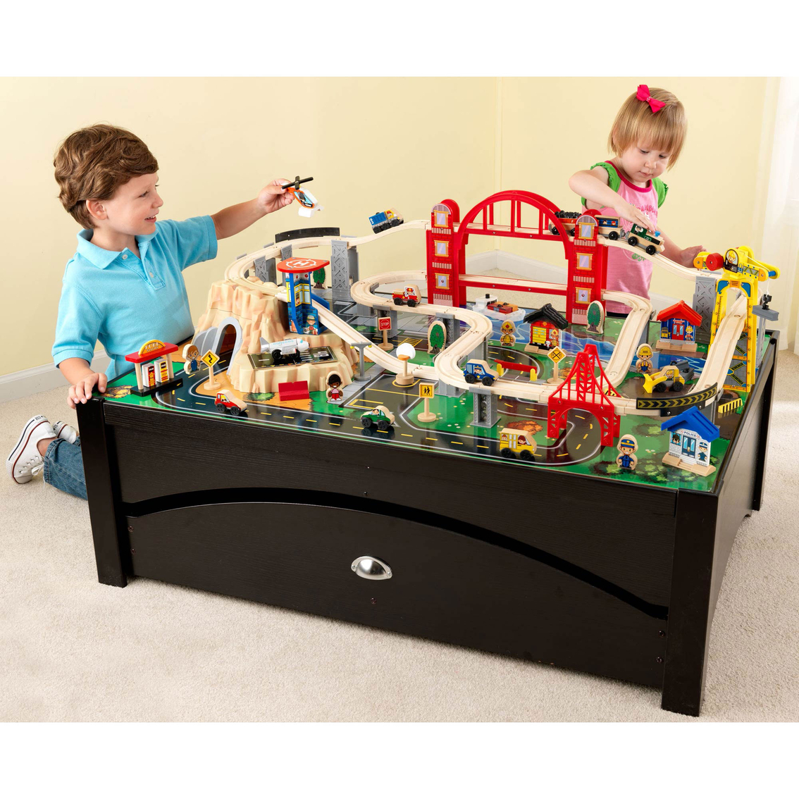2201  sc 1 st  ShopMyExchange.com & Kidkraft Metropolis Train Table And Set | Tables \u0026 Sets | Shop The ...