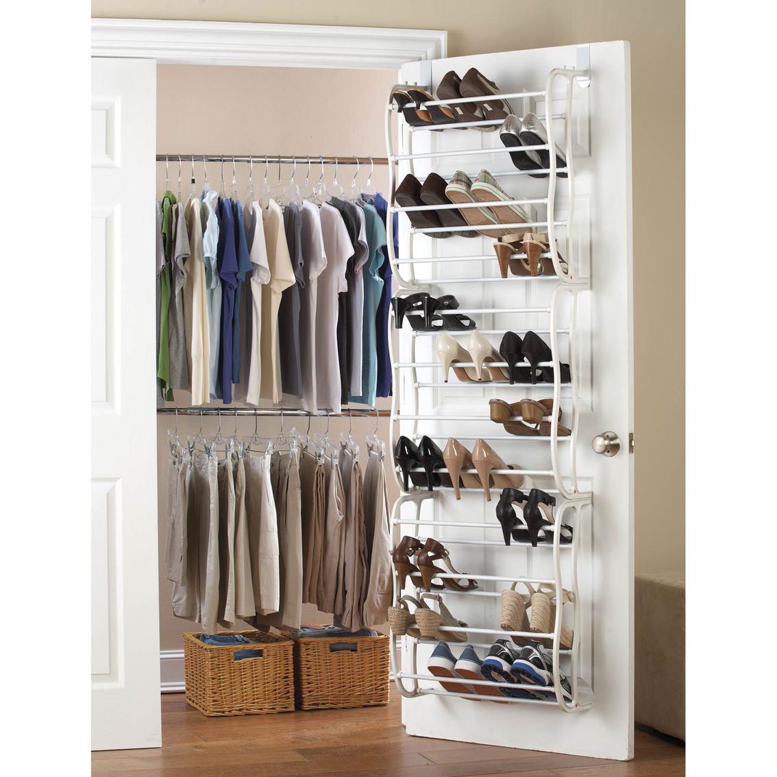 Simply Perfect Over The Door Shoe Rack Closet