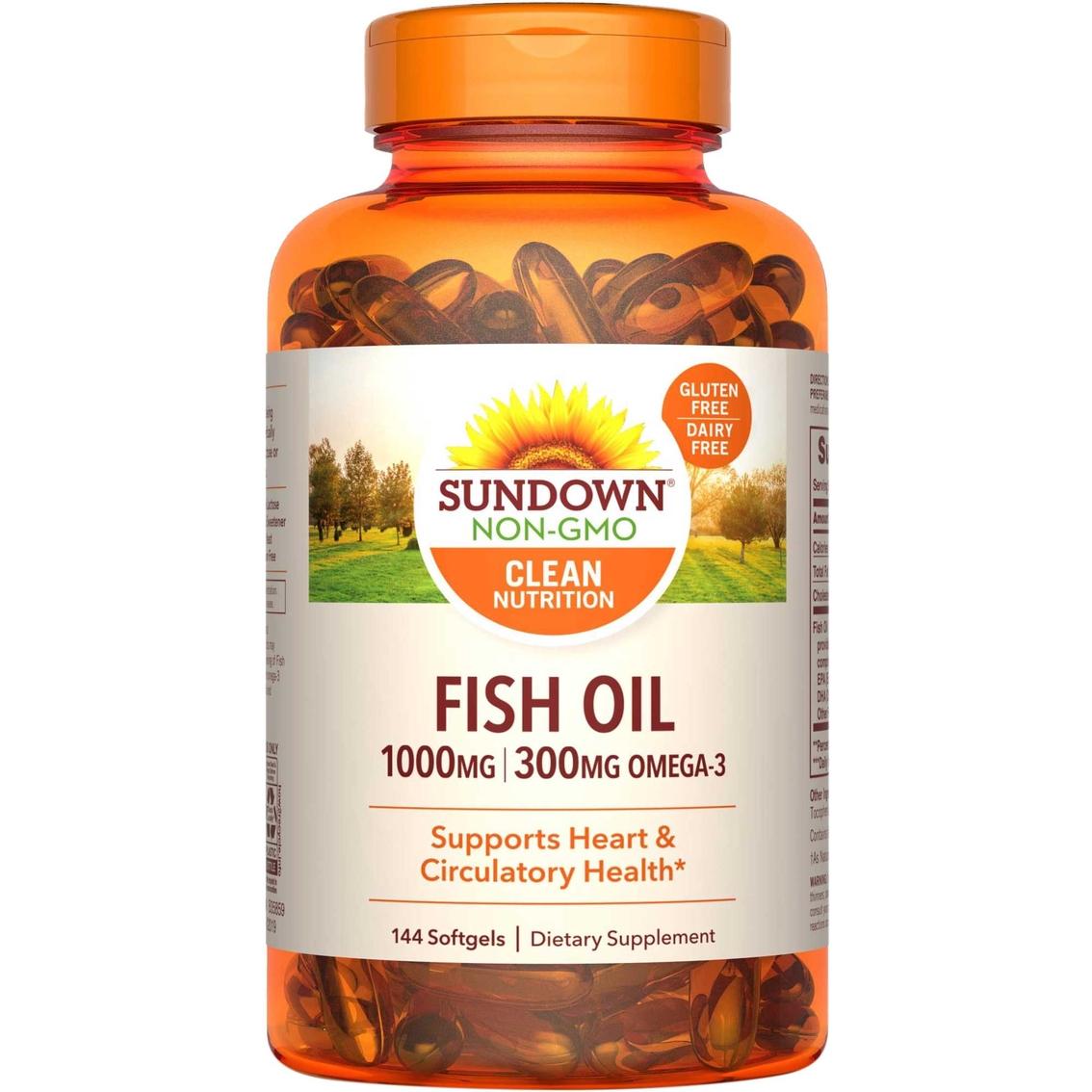 Sundown naturals fish oil 180 120 1000 mg softgels 144 pk for Fish oil 1000 mg