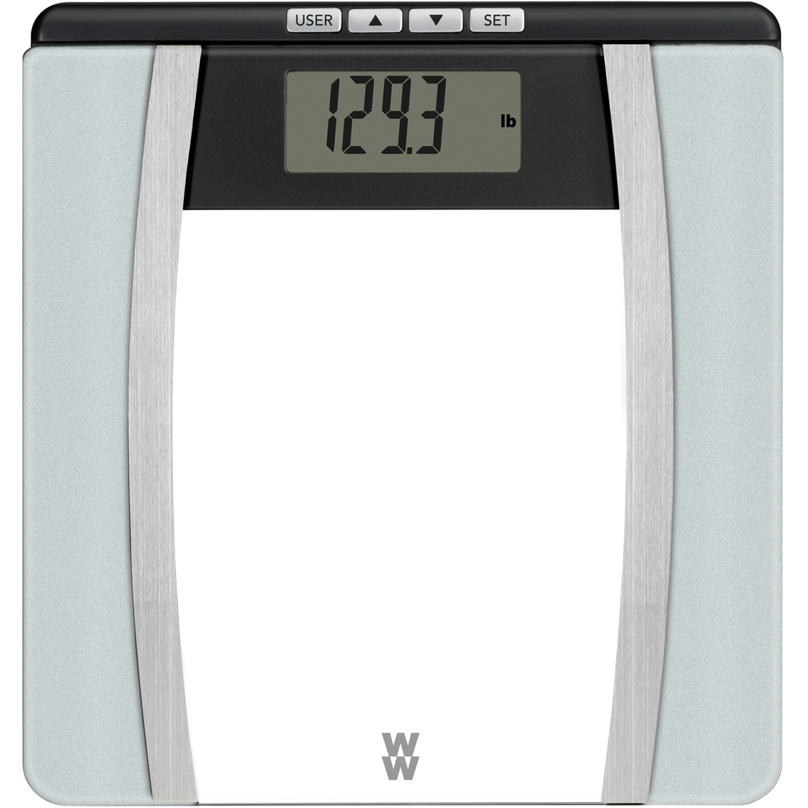 conair weight watchers glass body analysis scale monitoring testing sports outdoors. Black Bedroom Furniture Sets. Home Design Ideas