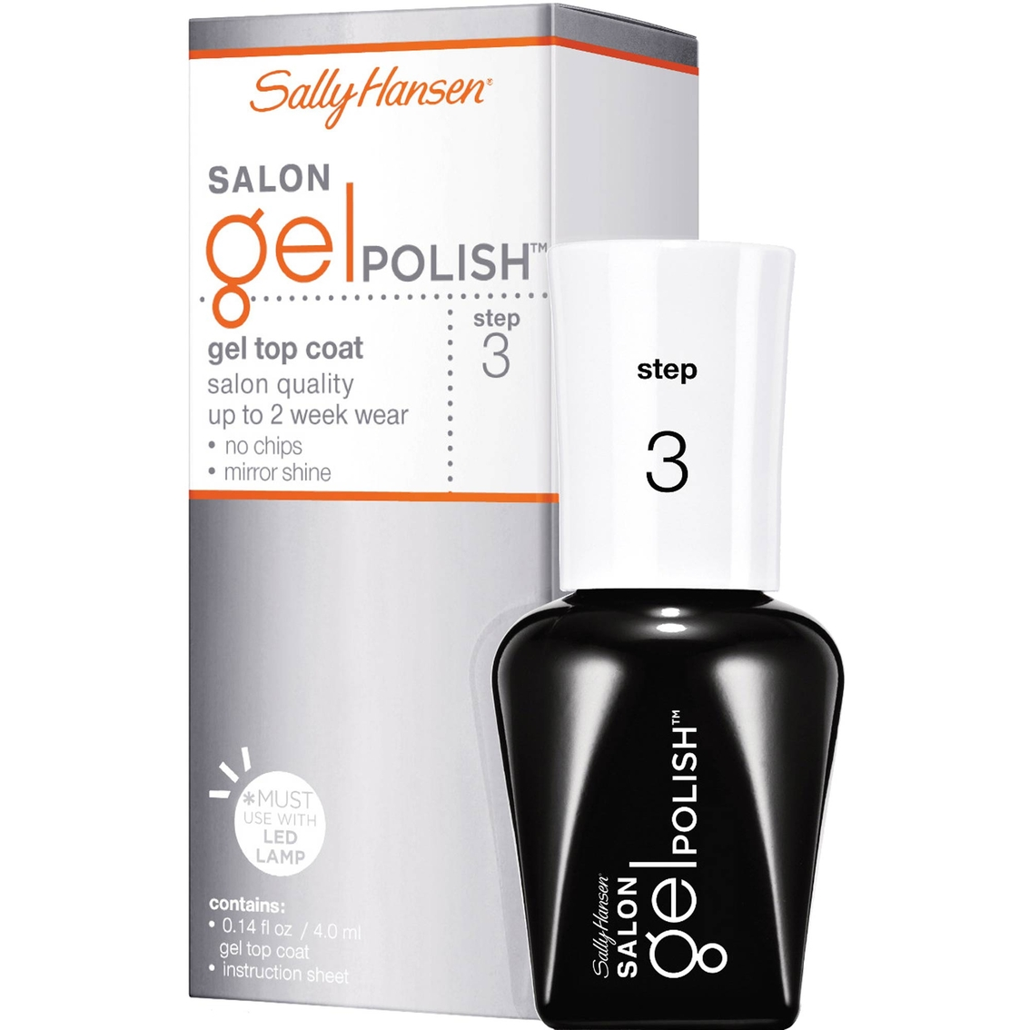Sally Hansen Salon Pro Gel Nail Polish: Sally Hansen Salon Gel Polish Gel Top Coat