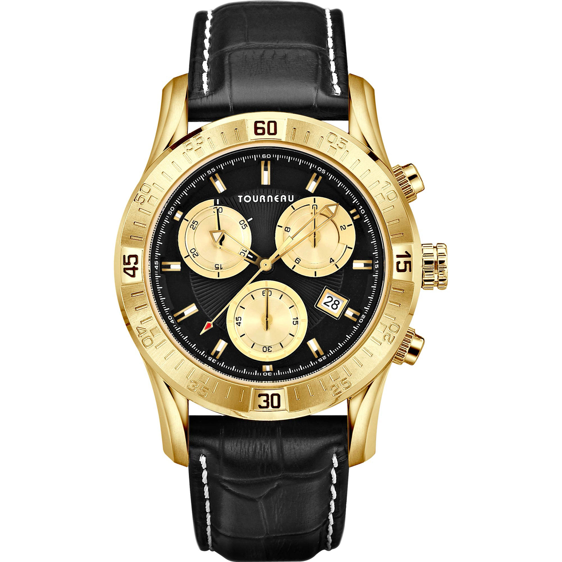 Tourneau Men's Gold And Black Sports Chronograph With Black