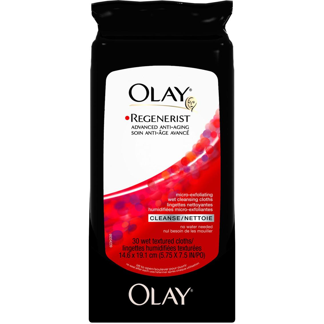 Olay Regenerist Micro Exfoliating Wet Cleansing Cloths 30 Ct Revitalising Cream