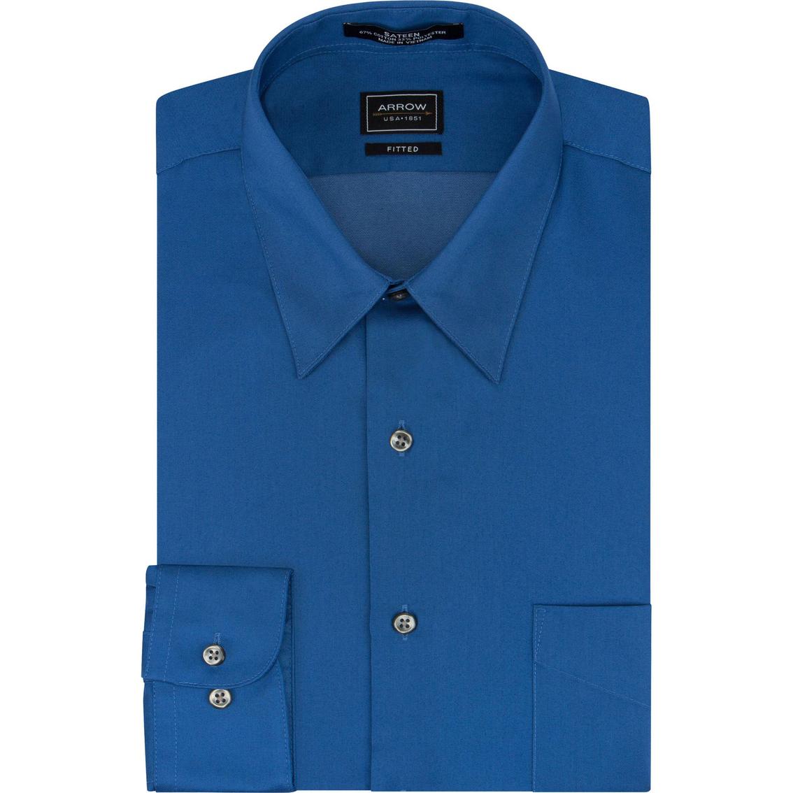 arrow fitted sateen dress shirt dress shirts apparel