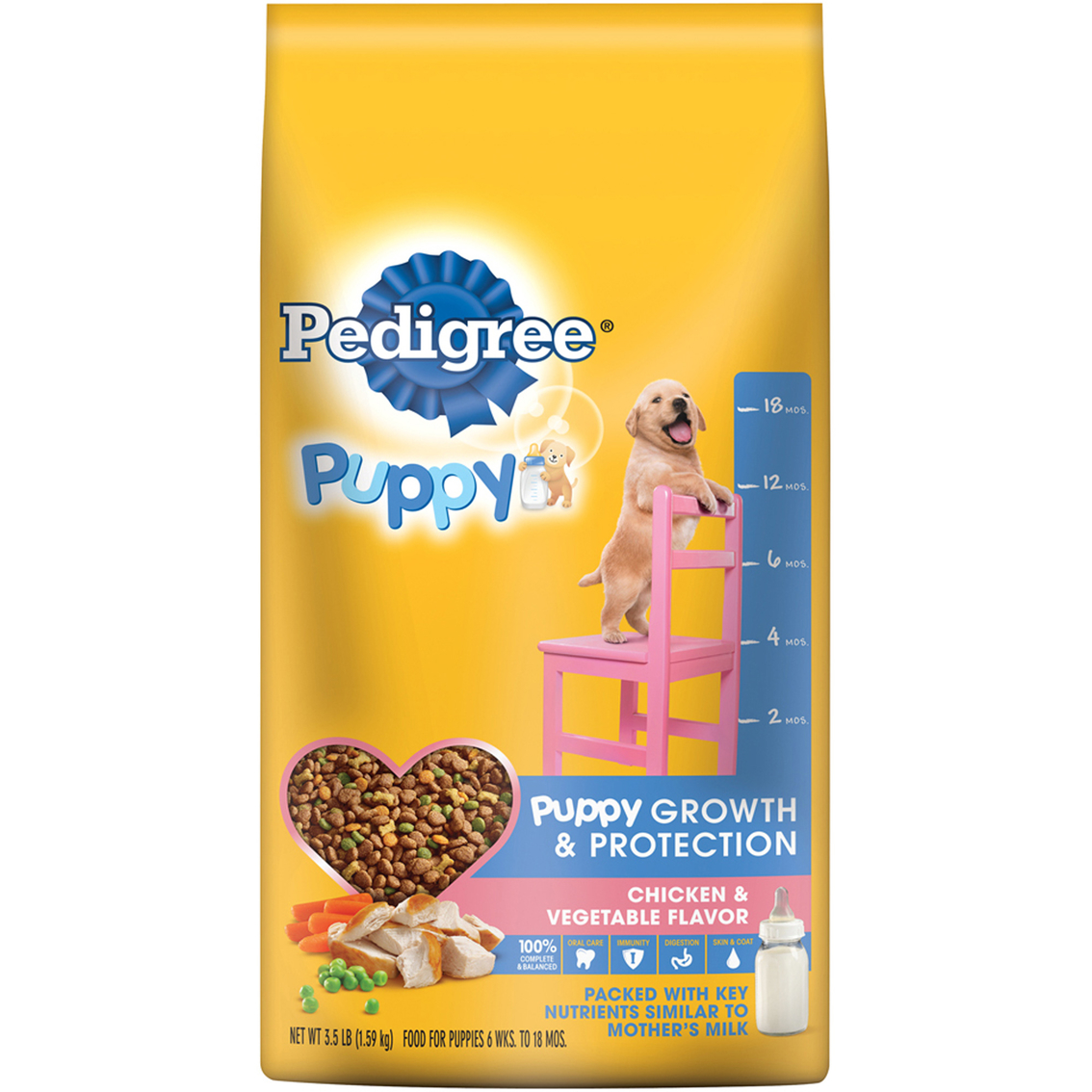 Pedigree Puppy Growth And Protection Chicken And Vegetable Dry Dog Food 3 5 Lb Food Treats Household Shop The Exchange