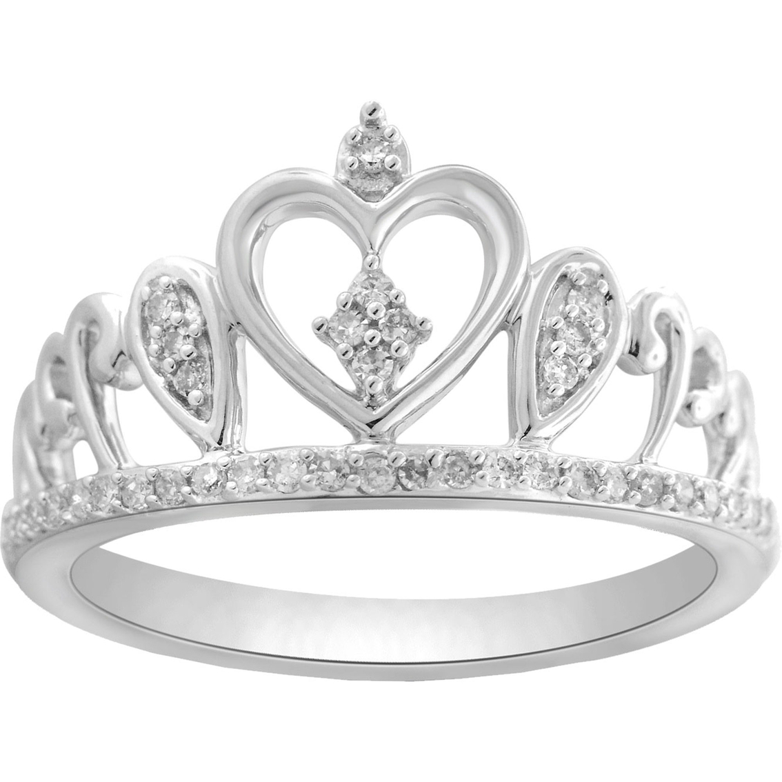 Crown Diamond Engagement Rings