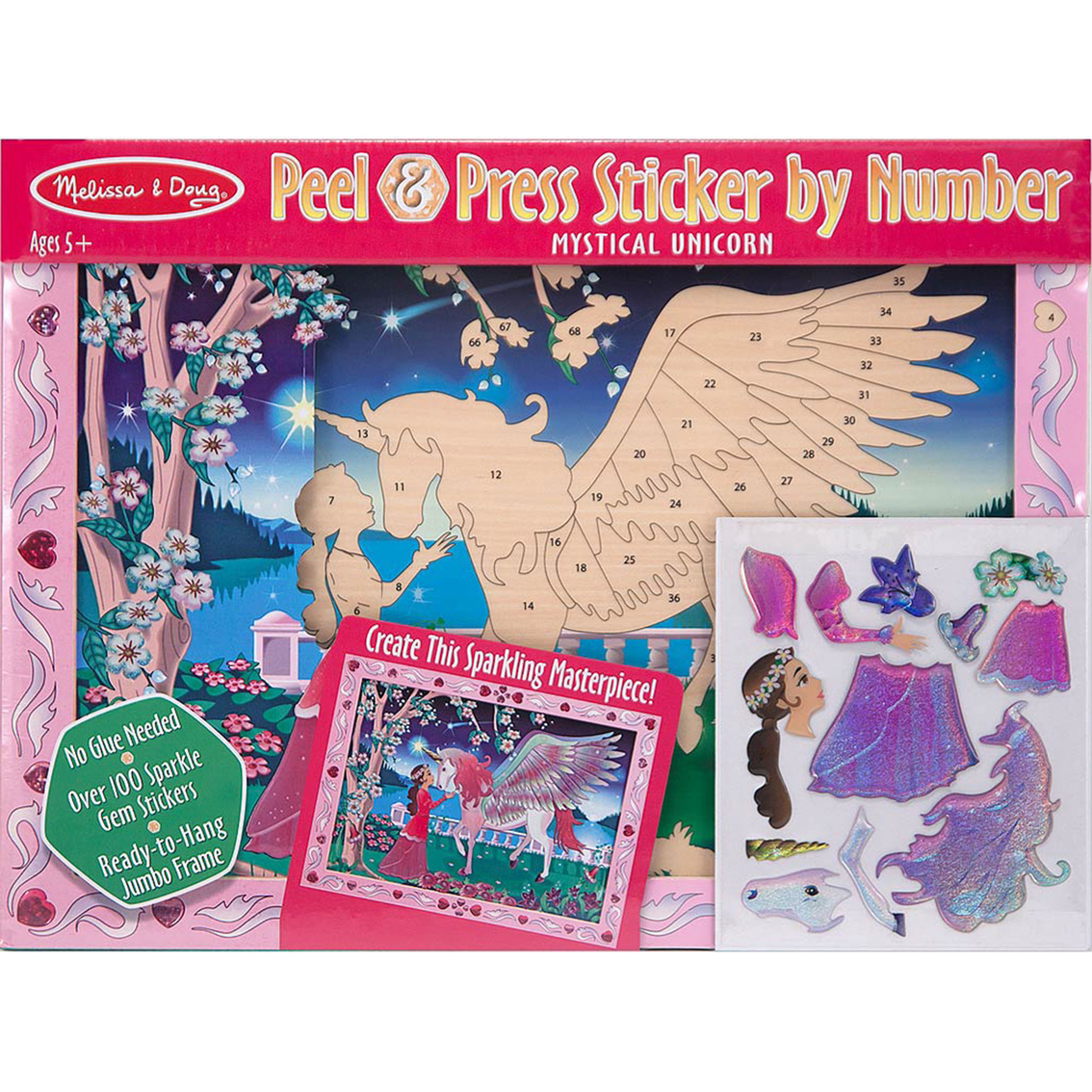 Melissa Amp Doug Peel And Press Sticker By Number Mystical
