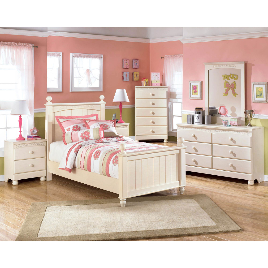 signature design by ashley cottage retreat 5 pc youth twin bedroom set bedroom sets home. Black Bedroom Furniture Sets. Home Design Ideas