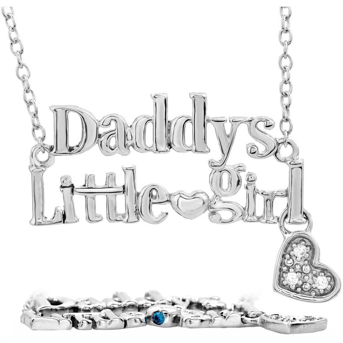 Forever Princess Sterling Silver Daddy\'s Little Girl Necklace With ...