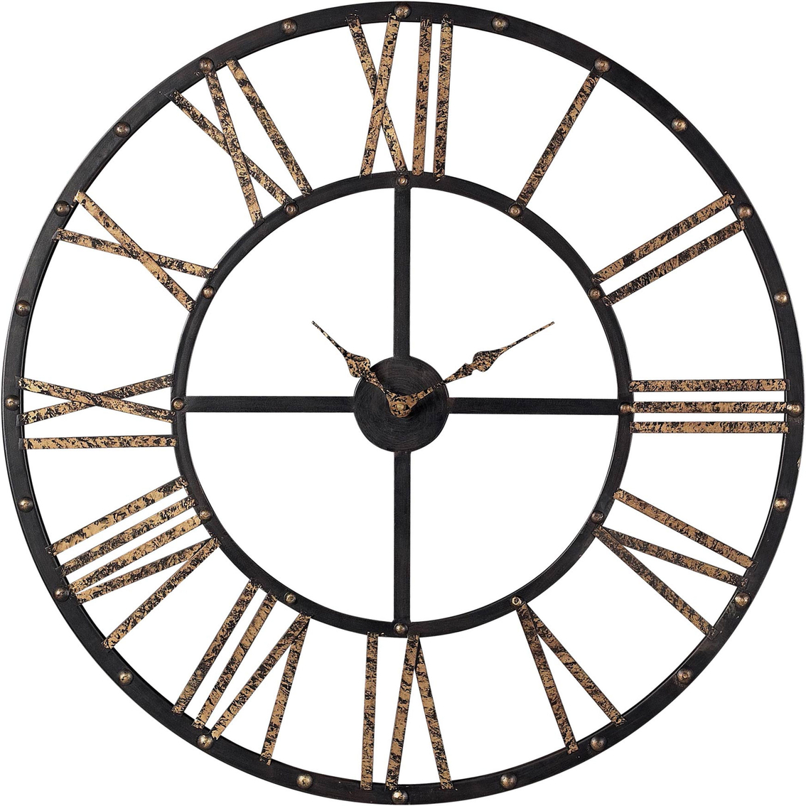 Elk lighting metal framed roman numeral wall clock clocks home 1044 amipublicfo Choice Image