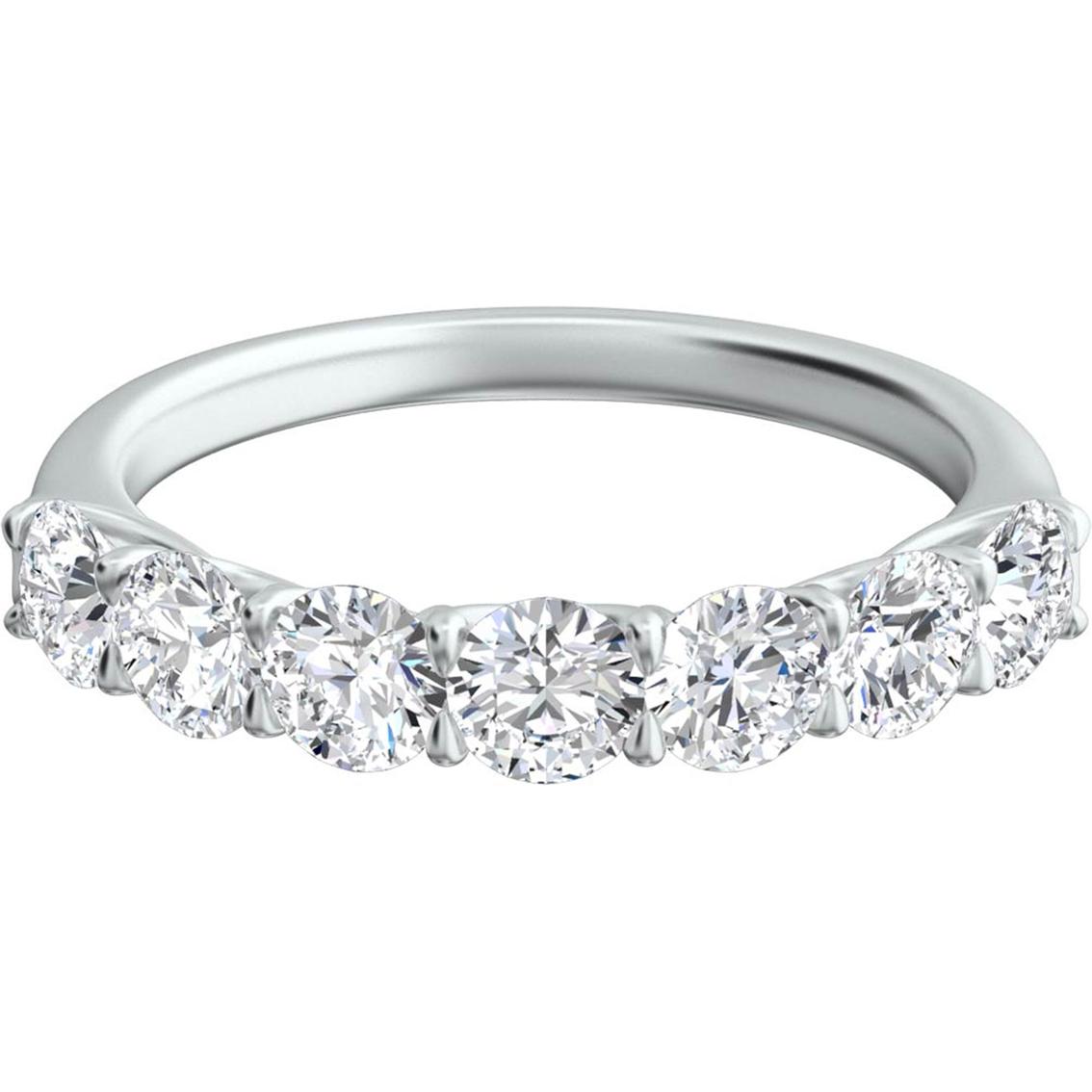 Sasha Primak Platinum 1 Ctw 7 Stone Trellis Diamond Wedding Band
