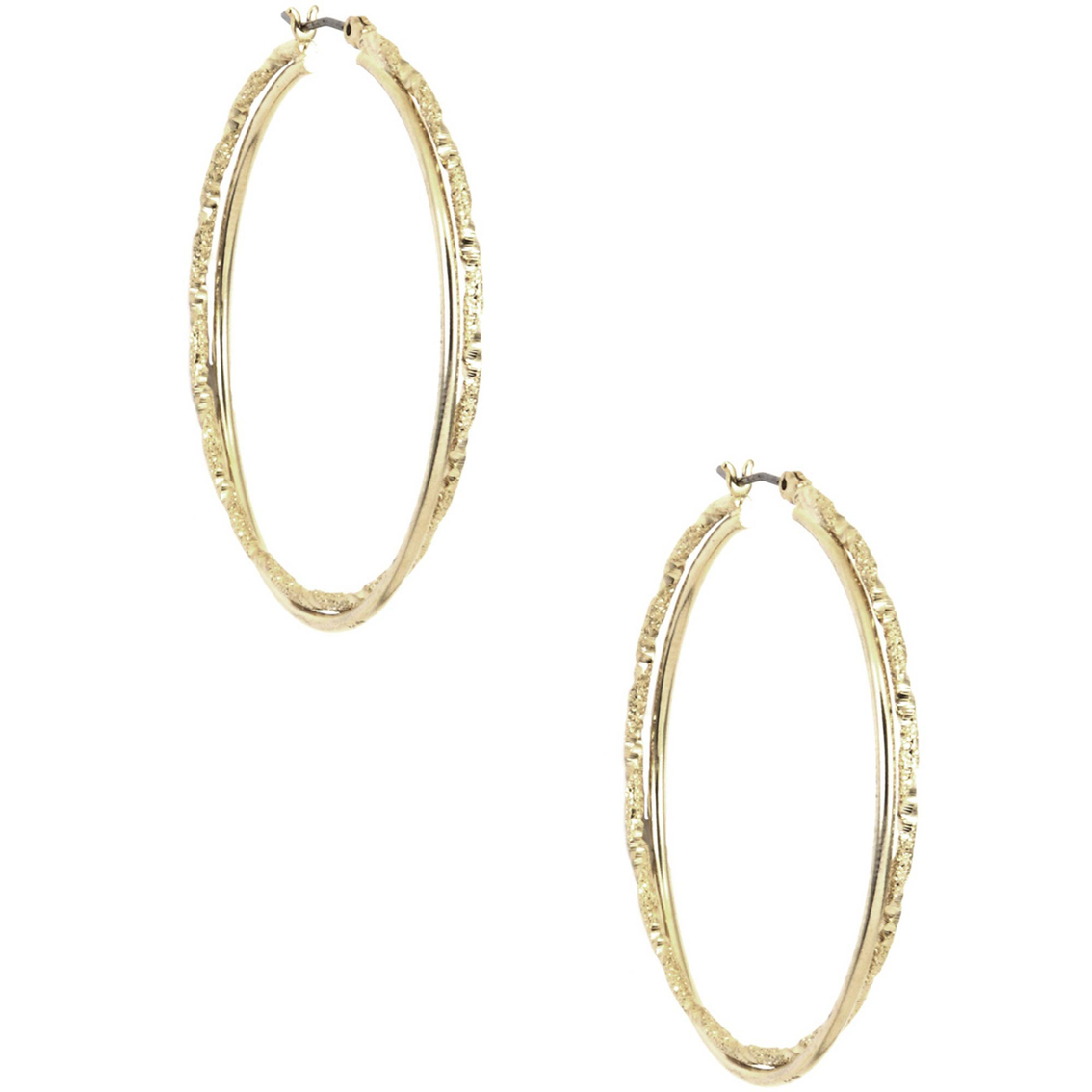 Anne Klein Goldtone Medium Twist Hoop Earrings