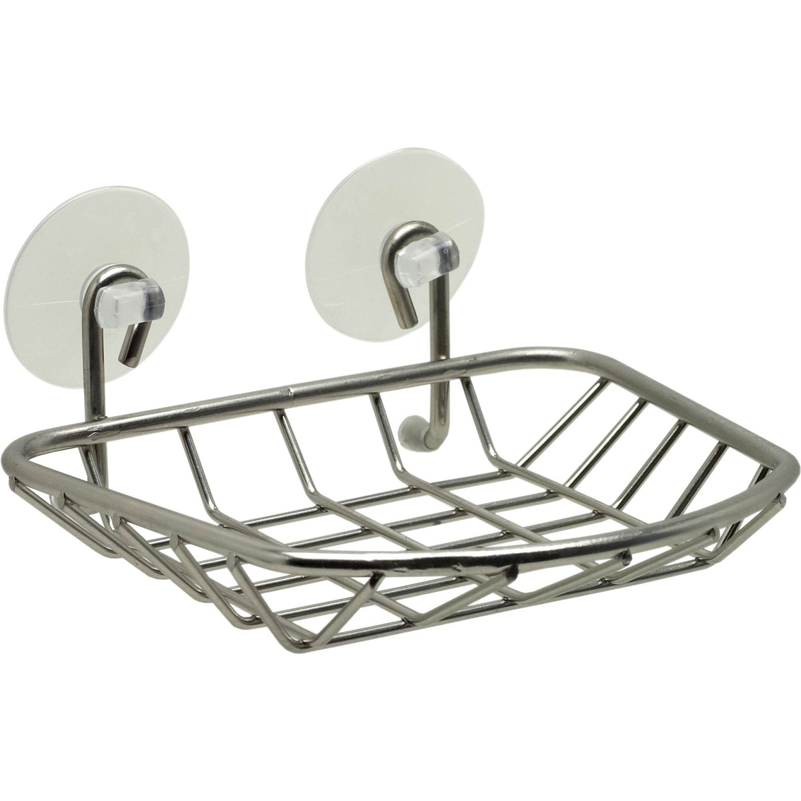 Zenith Products Brushed Nickel Suction Cup Soap Dish Caddy | Bath ...