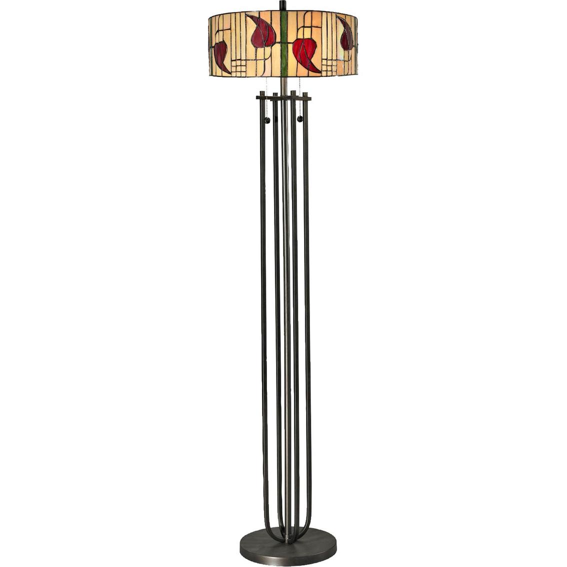 dale tiffany 61 in macintosh tiffany style 2 light floor lamp floor. Black Bedroom Furniture Sets. Home Design Ideas