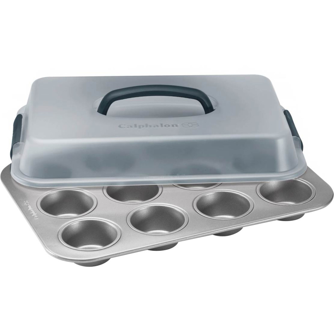 Calphalon Nonstick Bakeware 12 Cup Covered Cupcake Pan | Baking Pans ...