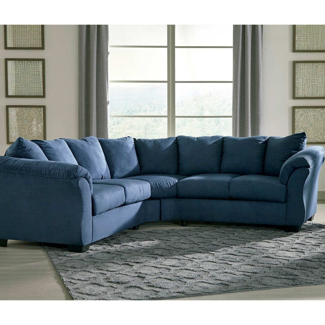 Sensational Signature Design By Ashley Darcy 2 Pc Sectional Sofas Cjindustries Chair Design For Home Cjindustriesco