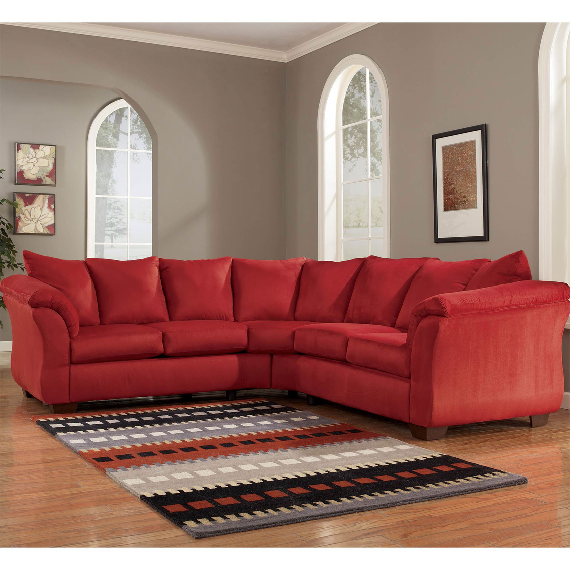 Signature Design By Ashley Darcy 2 Pc. Sectional | Sofas & Couches ...