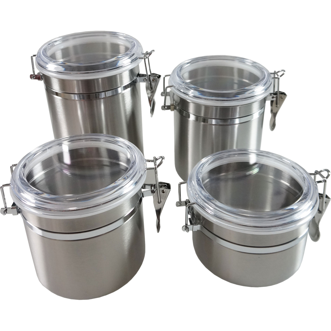 simply perfect 4 pc stainless steel canister set canisters