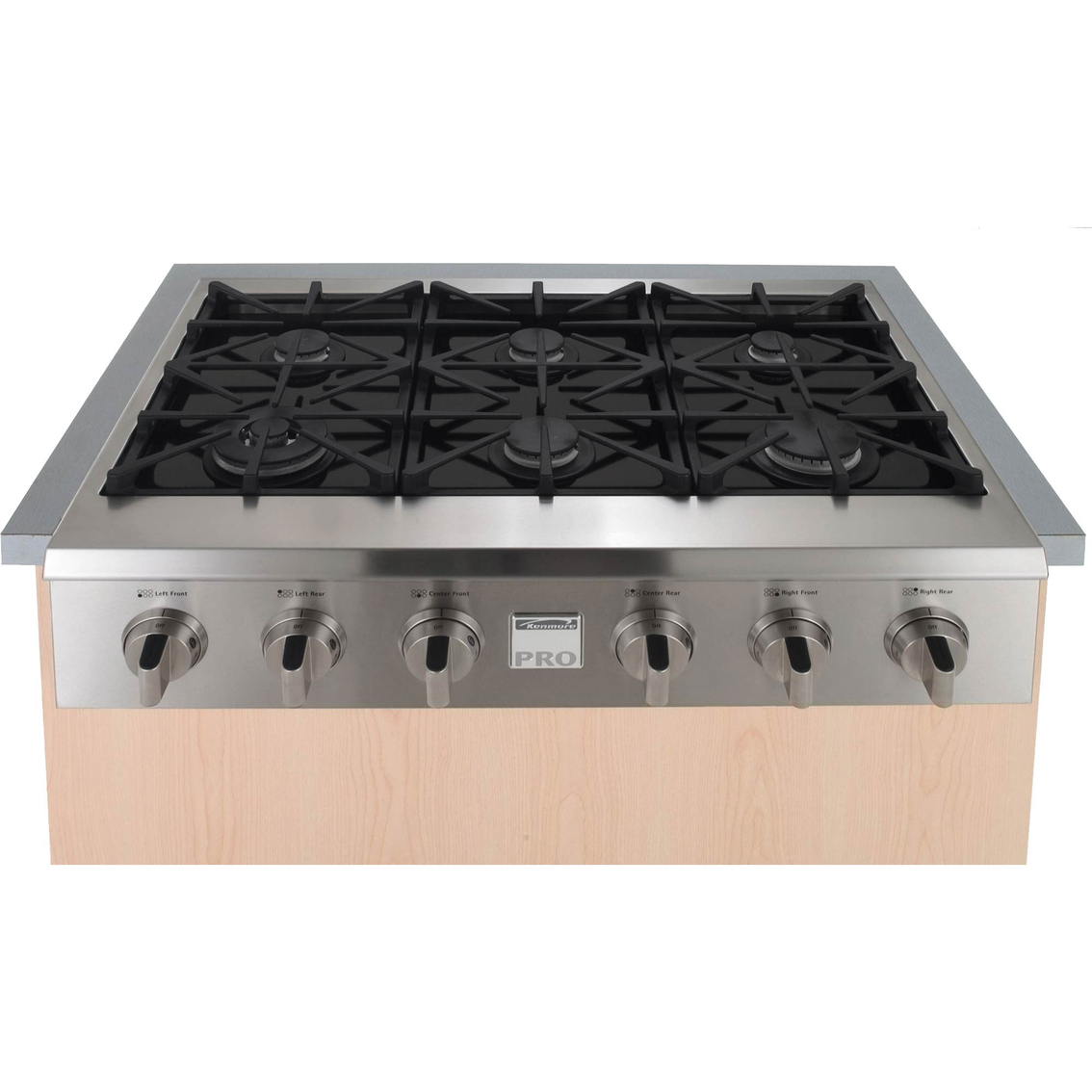 Kenmore Pro 36 In. Slide-in Ceramic Glass Gas Cooktop