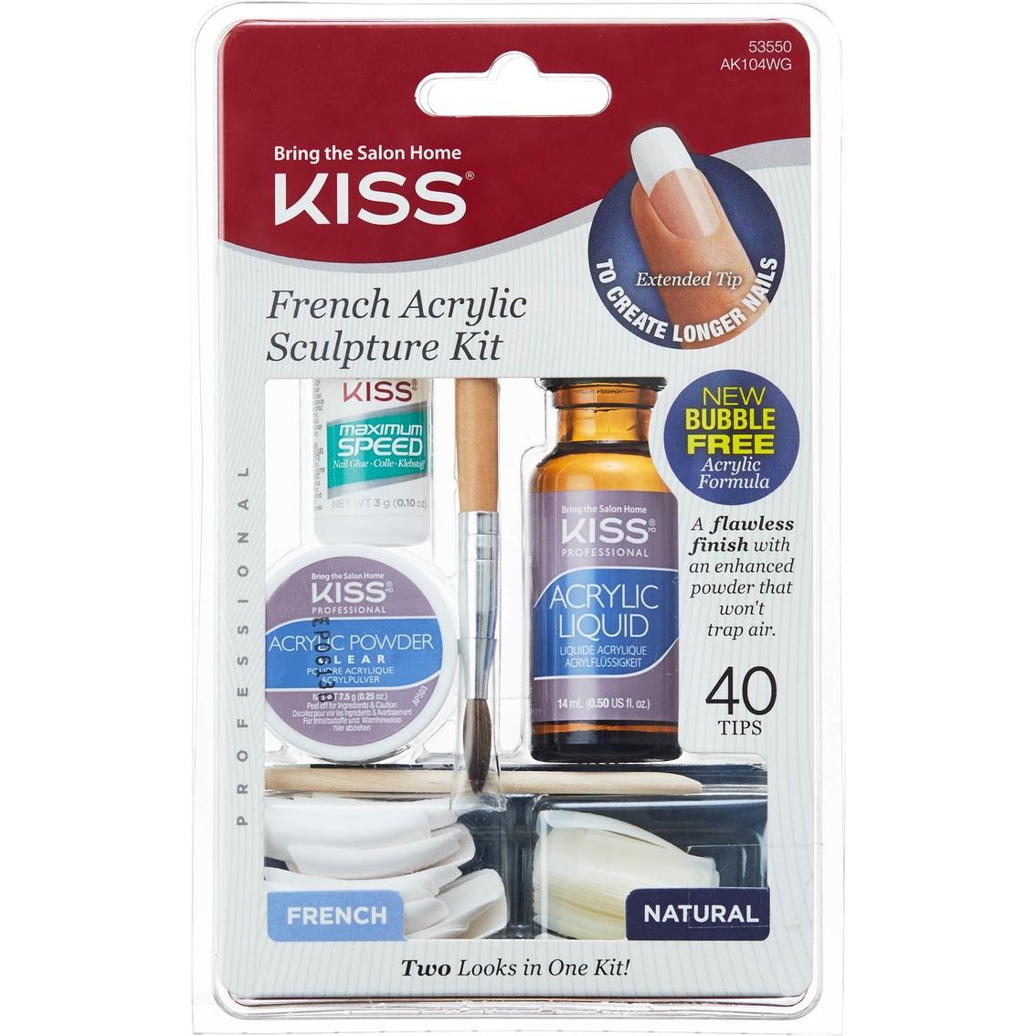 Kiss Acrylic Nail Kit Instructions: Kiss French Acrylic Sculpture Nail Kit